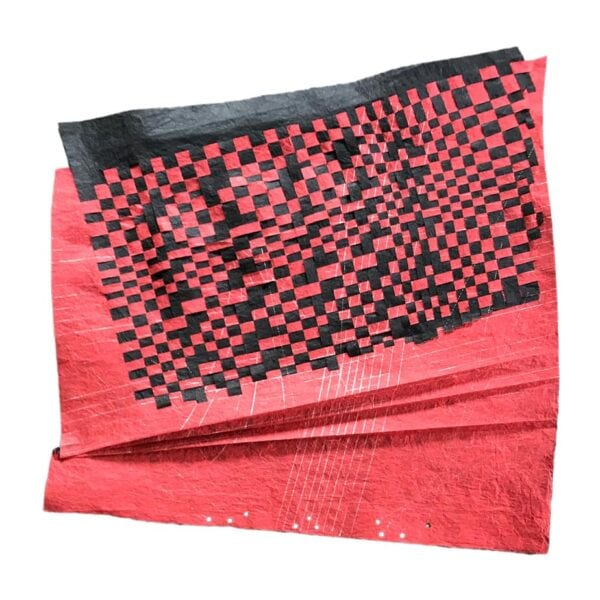 Black-Red Unryu Folds -  1
