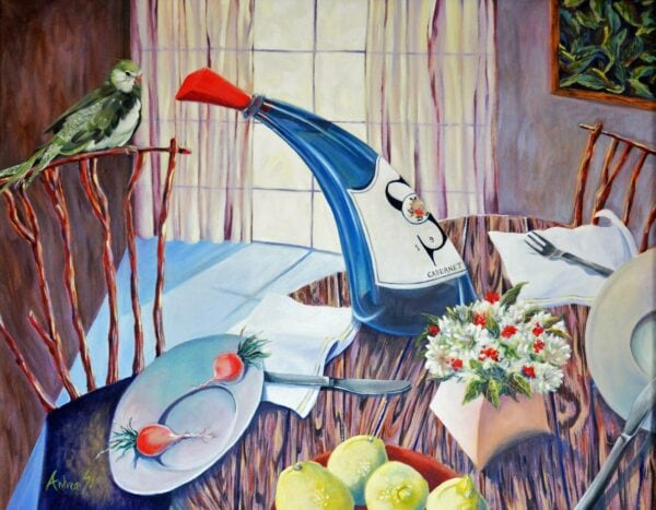 Blue_Bottle_With_Bird_Andrea-Bogart-22X28 -  1