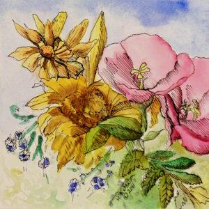 Flower-Dance-IX-Watercolor Painting