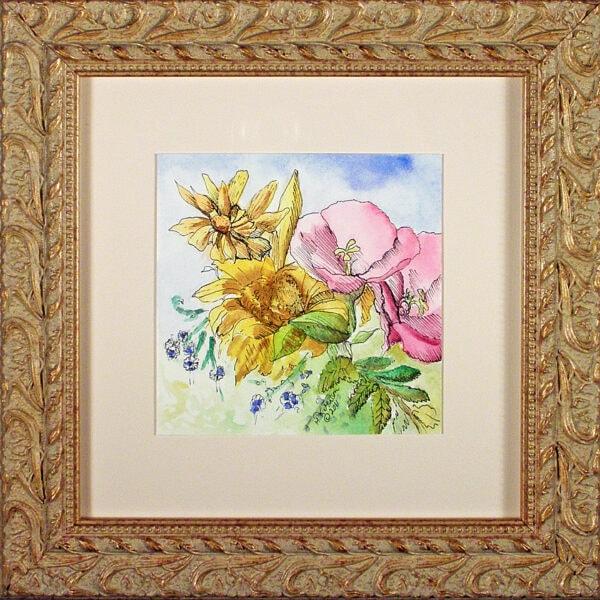 Flower-Dance-Ix-Watercolor-Painting