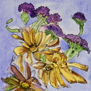 Flower-Dance-VII-Watercolor Painting