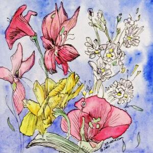 Flower-Dance-VIII-Watercolor-Painting