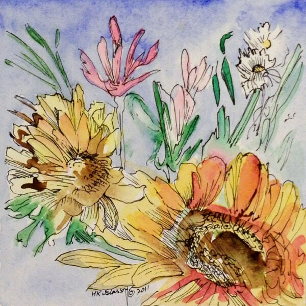 Flower-Dance-Xi-Watercolor-Painting