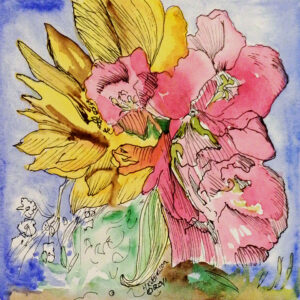 Flower-Dance-XII-Watercolor-Painting