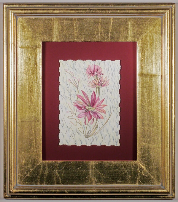 Wall-flowers-ii-floral-pencil-drawing-framed