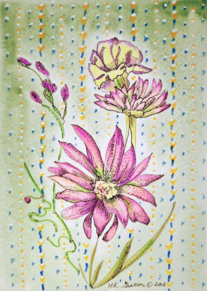 Wall-Flowers-IV-Floral-Watercolor