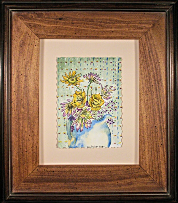 Pticher-Perfect-Iii-Watercolor-Painting-Framed