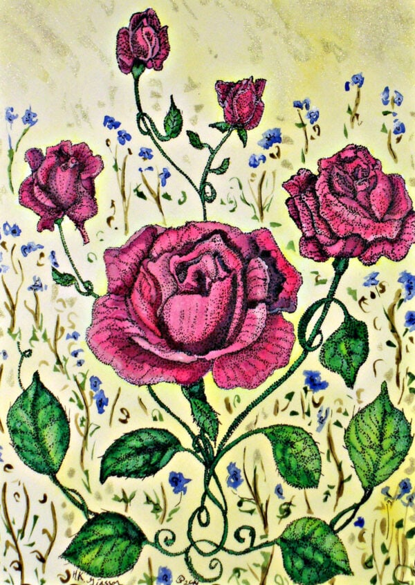 Victorian-red-roses-ii-garden-floral-watercolor