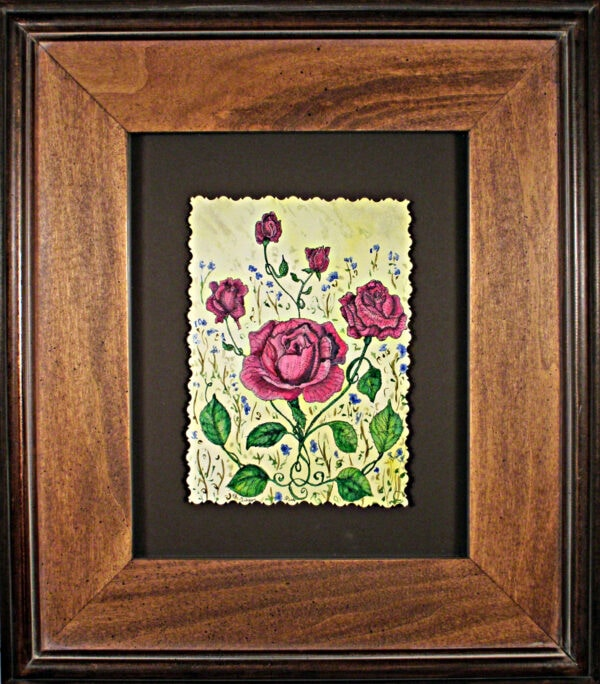 Victorian-red-roses-ii-garden-floral-watercolor-framed