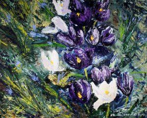 Crocus-Minuet-I-Floral-Acrylic-Painting