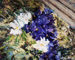Crocus-Minuet-II-Floral-Acrylic-Painting