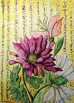 Wall-Flowers-IX-Floral-Watercolor
