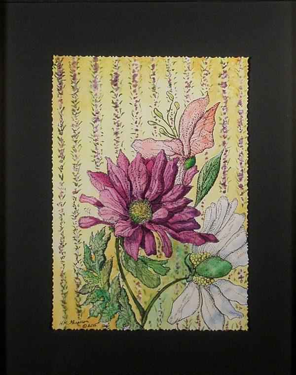 Wall flowers ix detail