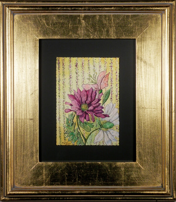 Wall-flowers-ix-floral-watercolor-framed