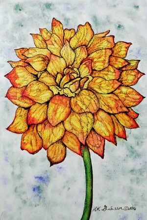 Dahlia-II-Watercolor-Floral-Painting