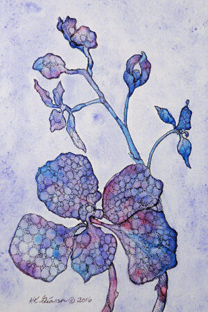 Blue-Orchid-II-Watercolor-Floral-Painting