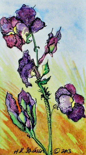Autumn-Violets-Floral-Watercolor-Painting