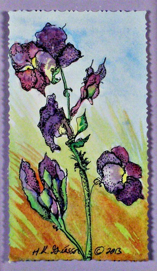 Autumn-Violets-Floral-Watercolor-Painting