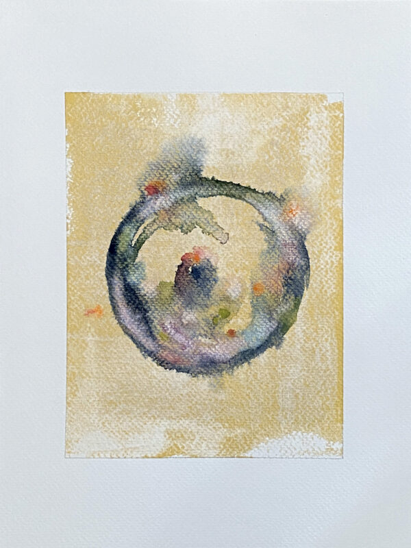 31-Gold Meditation_Watercolor And Ink On Paper 6X8 On 9X12_Ritapatel -  1