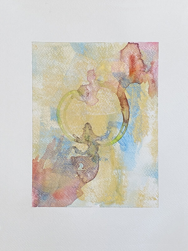 37-Gold Meditation_Watercolor And Ink On Paper 6X8 On 9X12_Ritapatel -  1