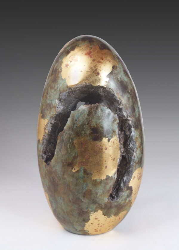 Abstract Sculpture, Contemporary Sculpture, Cement Sculpture, Canopic Jar, Oval Sculpture