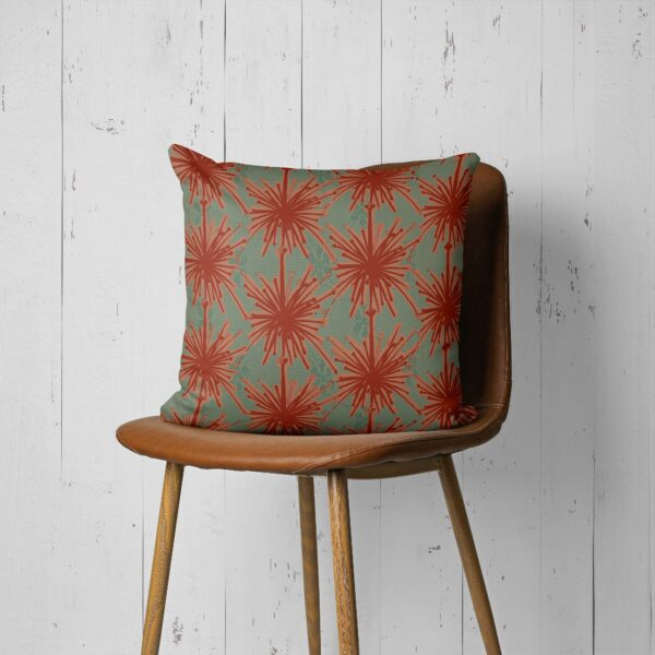 Frida Kahlo Inspired Floral Print Throw Pillow