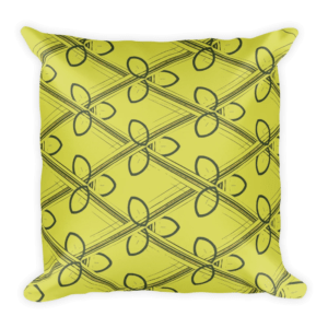 midcentury modern inspired throw pillow