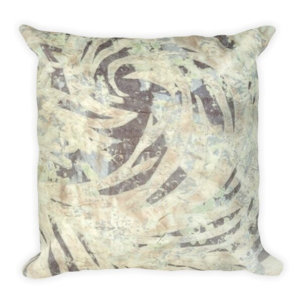 Pastel Abstract Flourish Art Deco Inspired Throw Pillow