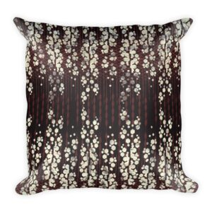 art deco inspired geometric print throw pillow in plum, burgundy and white