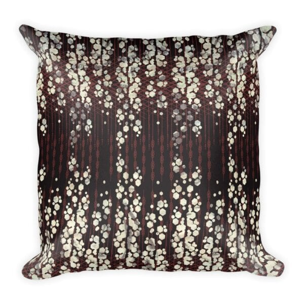 Art Deco Inspired Geometric Print Throw Pillow In Plum, Burgundy And White