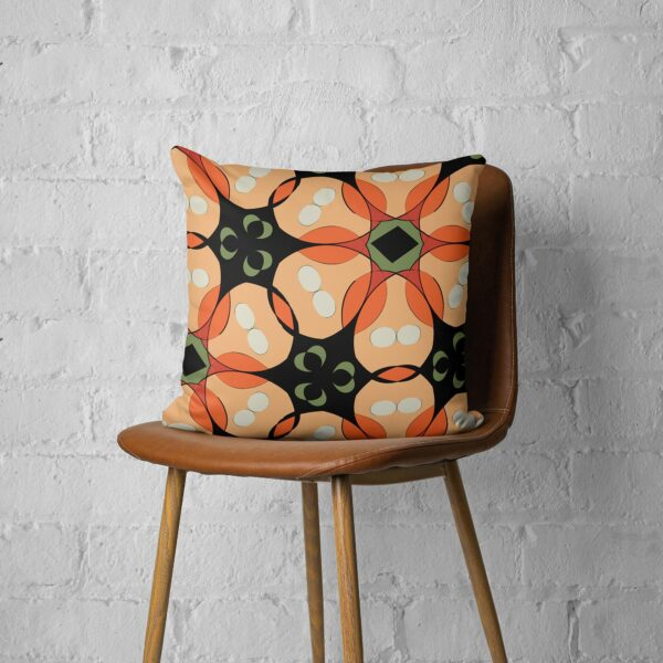Midcentury Inspired Tropical Floral Throw Pillow