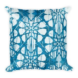Batik Tock Throw Pillow
