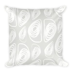White on White Abstract Throw Pillow