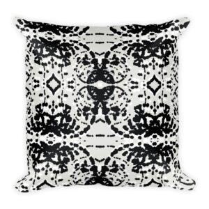 Black and White Particles Throw Pillow