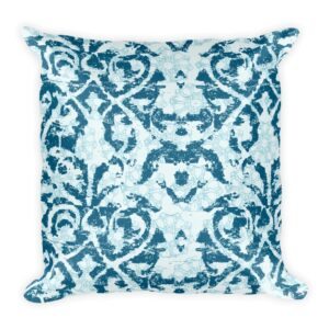 Damask and Receive Throw Pillow