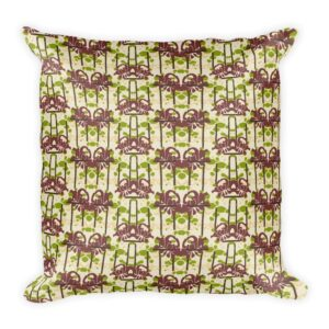 Modern Floral Chevron Throw Pillow