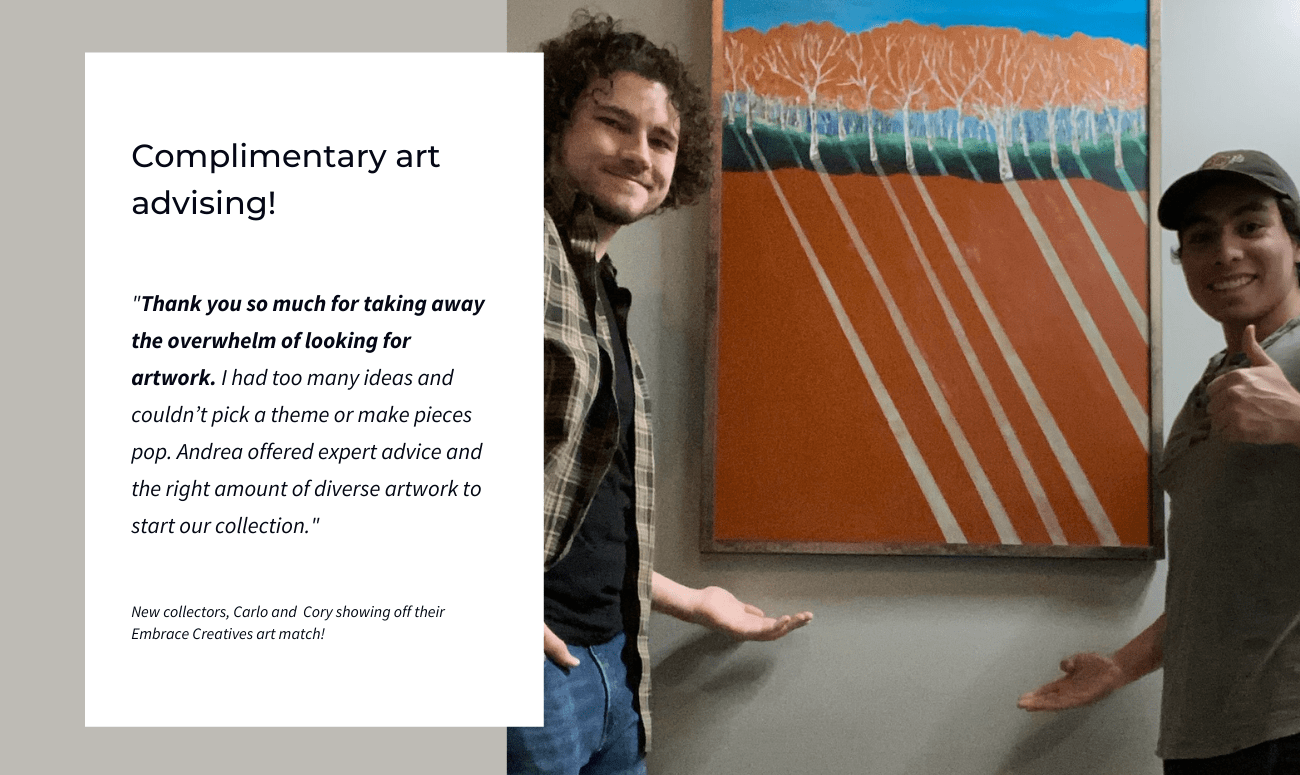 Free Art Advising With Embrace Creatives